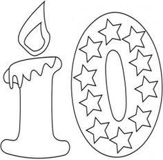 Number Stencils Printable Templates Coloring Pages