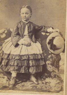 Beautiful little girl with a beautiful dress :)