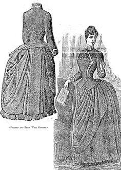 Wool overskirt, #1887 #1880s #patterninlink