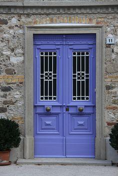 Love this door, one of my top 5.  What exactly is the color ?  Ah, Lilac !!          blue door