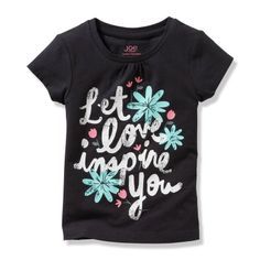 Toddler Girls' Floral Graphic Tee