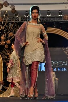 Rose churidar by Elan at PFDC L'Oreal Paris Bridal Week 2013