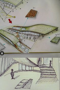 This project I did it in my first year of my studies 📐 everything's was so new for me , but I have so many more architectural sketches that I will share with you guys 😍 #designsketches #architectstudent #architecture #sketches #handsketches