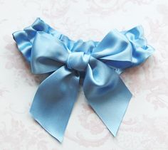 Something Blue Big Bow Bridal Garter by talulahblue on Etsy, £20.00
