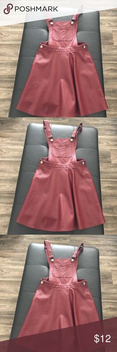 Forever 21 faux leather dress Size small.  Worn with a bandeau or undershirt.  Follow me on Insta for OOTDS : NickyRican  Please do not offer trades. P P avail. Forever 21 Dresses