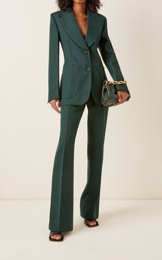 Suit Fashion, Work Fashion, Fashion Outfits, Fashion Design, Classy Outfits, Cute Outfits, Look Blazer, Professional Outfits, Wool Pants