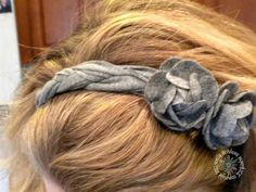 I made a headband with braided strips cut from a T-shirt & embellished it with some felt flowers that were premade. TFL!! More deets are on my blog at: http://noelle-paperandice.blogspot.com/2011/09/fits-to-tee-challenge.html