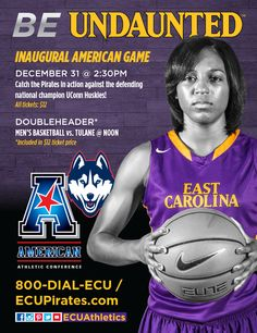December 2014 women's basketball conference opener ad. Placed in Pirates Chest magazine.