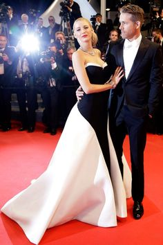 "After a very glamorous turn on the Met Gala red carpet in early May, Blake and husband Ryan Reynolds once again stole the show at the Cannes Film Festival in his 'n' hers monochrome outfits. (Here's nine more times B[link url=""http://www.glamourmagazine.co.uk/gallery/blake-lively-cannes-dress""]lake was our Cannes pin-up)[/link]."