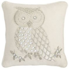 Perfect sparkly addition to our red Christmas throw pillows!