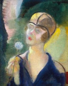 Márffy, Ödön (1878-1959) Csinszka with dandelion, 1927