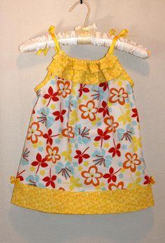 pillowcase dress pattern...love the ruffled top!