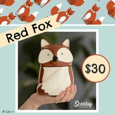 """Scentsy """"Red Fox"""" wax warmer new for fall and winter 2016 #wickless #candles #scentsbykris"""
