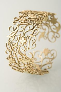 Cuff bracelet   Orita Jewellery Designs.  14k gold