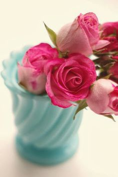 color combos / shades of pink and aqua