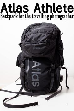 Atlas Athlete Backpack for Travelling Photographers - click for full review and more photos! Camera Backpack Travel, Photo Backpack, Camera Bags, Photography And Videography, Travel Photographer, Sony, Travelling, Photographers, Athlete