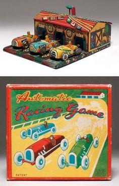Haji Racing Game Tin Toy from 50s/ebay