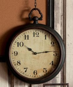 Pocket Watch Style Wall Clock