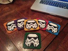 Star Wars Storm Trooper Coasters. I'm SO gonna make these one day...