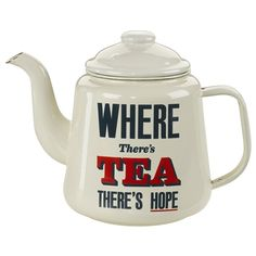 Home Front - Enamel Teapot for camping