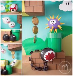 New Birthday Party Games Mario 26 Ideas Super Mario Party, Super Mario Birthday, Mario Birthday Party, 6th Birthday Parties, Super Mario Bros, 7th Birthday, Mario Party Games, Birthday Ideas, Mario Y Luigi