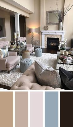 11 Cozy Living Room color schemes to create color harmony in your living room - Jule H. - 11 Cozy Living Room color schemes to create color harmony in your living room – - Cosy Living, Cozy Living Rooms, Living Room Grey, Living Room Interior, Home And Living, Living Area, Small Living, Modern Living, Hall Interior
