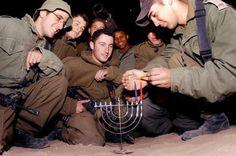 IDF soldiers celebrate Hannukah!