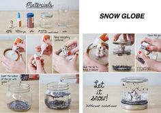 Snow Globe DIY. Love this!