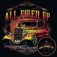 c2c212b52 Hot Rod T Shirts Vintage Ford Rat Rod Flames Pinstripes Small to 6X and Tall  #