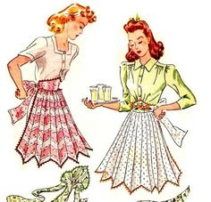 What's Cooking? Holiday Aprons, Mostly from the – Mccalls Patterns, Vintage Sewing Patterns, Apron Patterns, Christmas Sheet Music, Vintage Housewife, Aprons Vintage, Vintage Ladies, Vintage Woman, 1940s