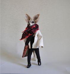 Manny, a desert fox in pursuit of a classical dance career in Manhattan! https://www.etsy.com/shop/Lulubits https://www.facebook.com/Lulubits