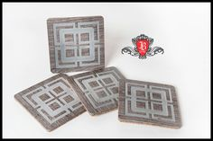 Coasters made from Vinyl flooring on a CNC router.
