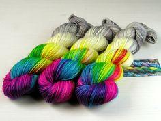"""""""FoggyRainbow"""" 8-fach Sockenwolle handgefärbt von PondeRosa-Wolle auf DaWanda.com"""