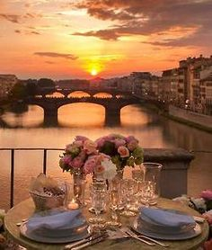 Sunset in Florence, Italy. Tuscany