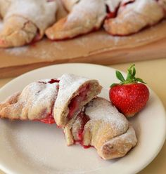 Whole wheat strawberry croissants. Please click on the photo in Yumgoggle to get to this delicious recipe. Enjoy!