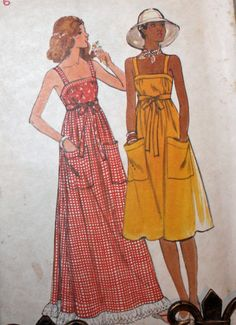 Vintage 1970s Sewing Pattern Butterick 4867 by Old2NewMemories