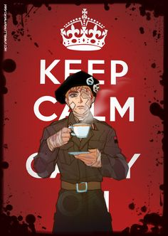chevalierviolet:  Keep Calm and Carry On was a propaganda poster produced by the Government of the United Kingdom in 1939 during the beginning of the Second World War, intended to raise the morale of the British public in the event of a Nazi invasion of Britain. It had only limited distribution, and thus was little known. The poster was rediscovered in 2000 and has been re-issued by a number of private companies, and used as the decorative theme for a range of products. It was believed…