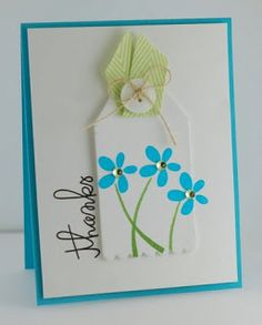 card by SPARKS DT Lynn Mangan PS stamp sets: Simply Said and Bold Blooms with the Tag Scallop die