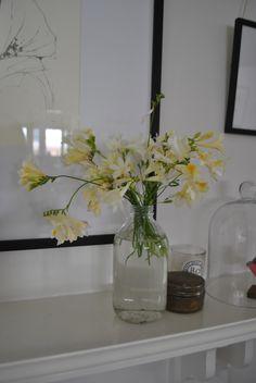 Always love having flowers in the house.