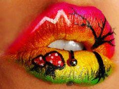Lip Art so cute