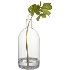 Great simplistic glass vase. Decorating ideas, use one single branch of green or one big flower with a light color for a simple and clean centerpiece.