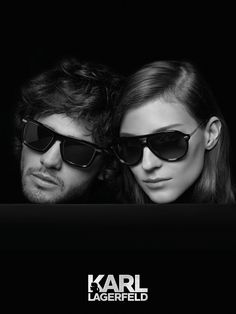 KARL LAGERFELD 2014 Eyewear Campaign featuring models Kati Nesher and Marlon Teixeira