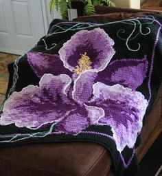 Orchid Single Crochet Afghan by Dyan A - Craftsy