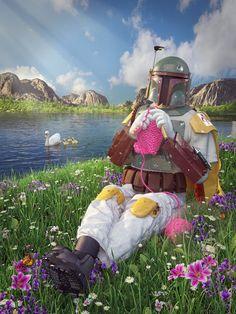 Star Wars on Vacation Art Prints - Boba Fett