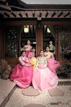Hanbok (한복)Pretty in pink.