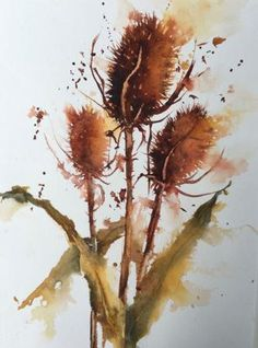 Teasels, Flowers, Heather Withers, SAA Professional Members' Galleries