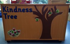 Our kindness tree. Children add an apple or a leaf when they notice an act of kindness. #kindnesstree #noticingactsofkindnesss #consciousdiscipline #cd #eyfs #eyfsclassroom #reception #psed