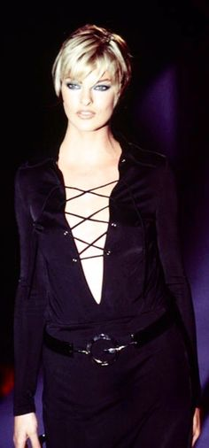 Linda Evangelista in Tom Ford for Gucci