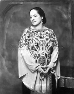 Helena Rubenstein in a 1923 Paul Poiret dress.