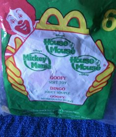 2001 #6 Goofy McDonald's Happy Meal Toy House of  Mouse  Soft Toy #Disney